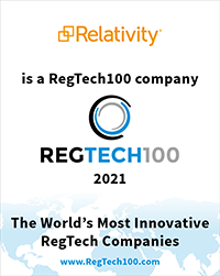 Relativity is a RegTech100 Company 2021